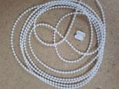 White 5 metre roller blind control chain