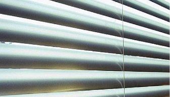 Close up on venetian blinds